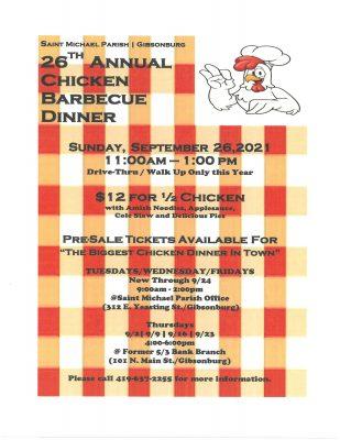 26th Annual Chicken Dinner @ 26th Annual Chicken Dinner